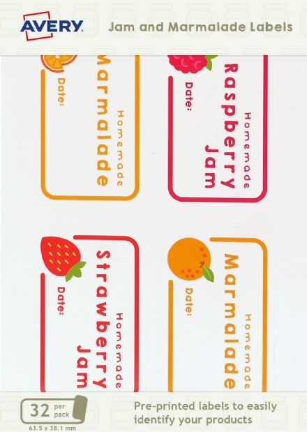 Jam & Marmalade Jar Labels